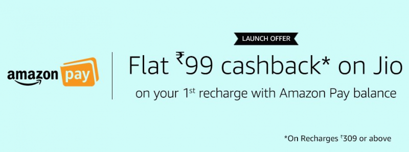 Jio Cashback Offer on AmazonPay