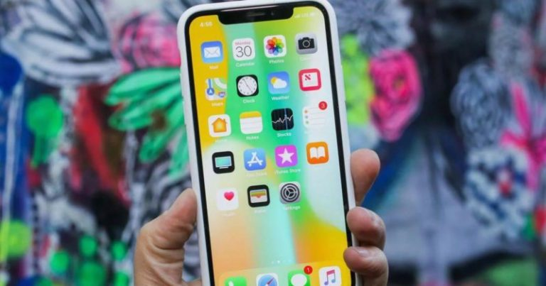 How to return to the main screen on the iPhone X