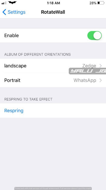 ROTATEWALL CYDIA TWEAK