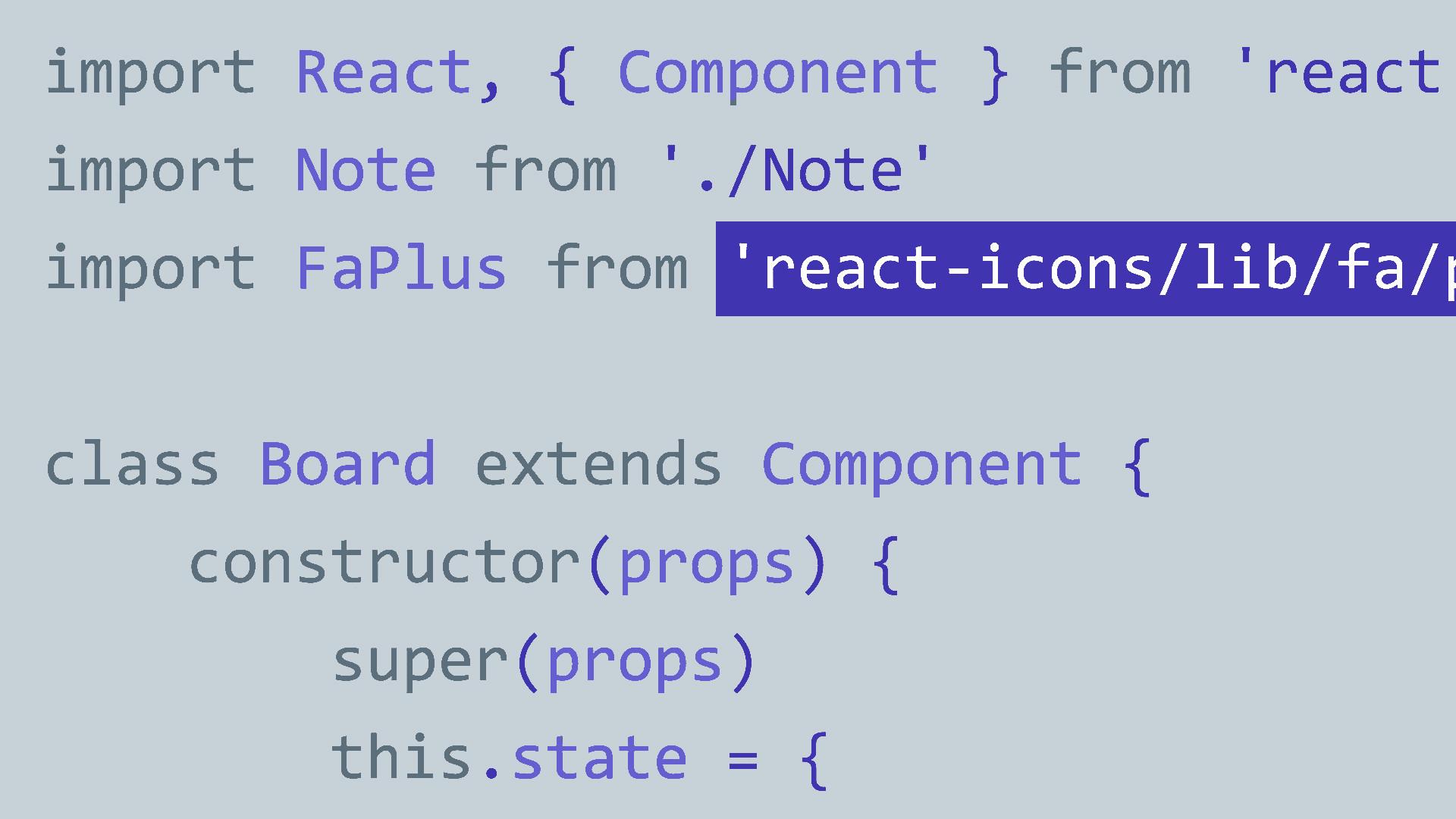 React.js code