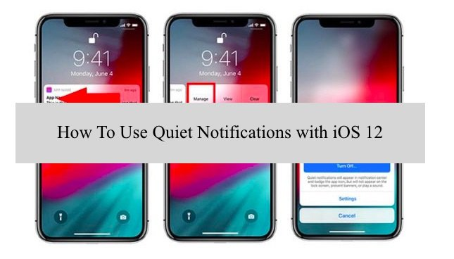 Enable and disable quiet notification on ios 12