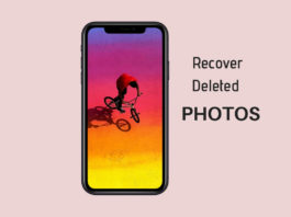 Restore Deleted Photos from your iPhone XS, XC and XR: