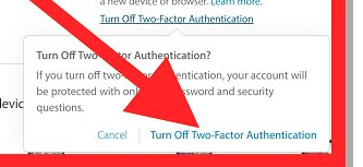 Turn Off Two-Factor Authentication on Apple Products: