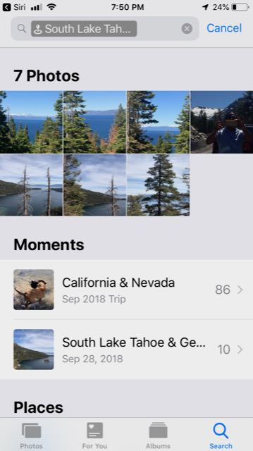 Find NearBy Photos of Anyone in iOS 12: