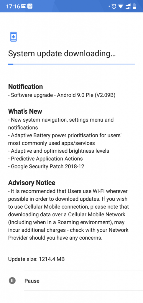Download and Install Android 9.0 Pie(V2.09B) on Nokia 5.1 Plus