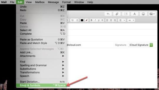 Use Favorite Emojis & Symbols in Mail on Mac 2019: