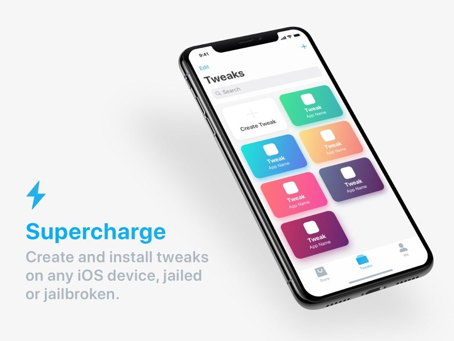 Download and Install SuperCharge App to Install Tweaks On iOS Devices: