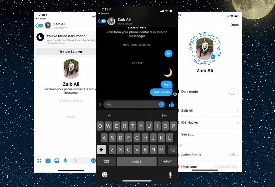 Enable Hidden Dark Mode In Facebook Messenger 2019: