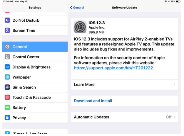 Download iOS 12.3 Update for iPhone and iPad Now: