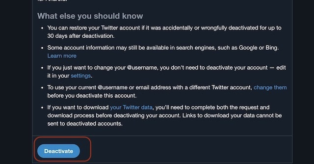 Permanently-Deleting-Your-Twitter-Account-on-Web step 3