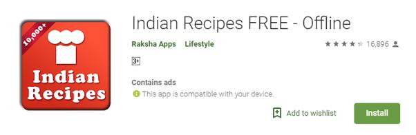 Indian Recipes FREE – Offline App
