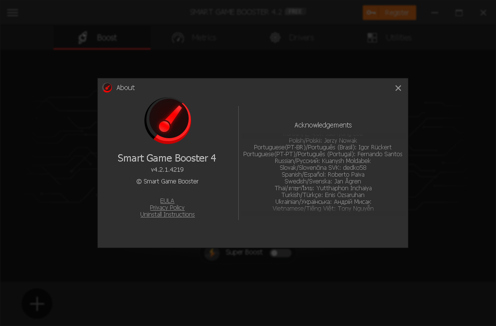 Smart Game Booster 4