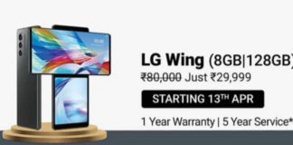 Flipkart Has Slashed The Price Of The LG Wing By Rs 40,000, Making It Available For Only Rs 29,999.