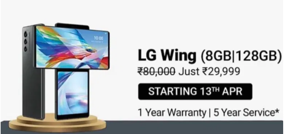 Massive Discount On LG Wing By LG
