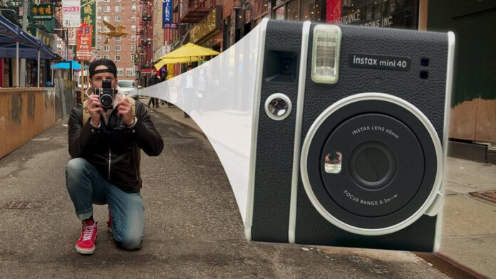 Fujifilm Unveils Instax Mini 40 Camera Alongside To The Instax Mini Contact Sheet Instant film
