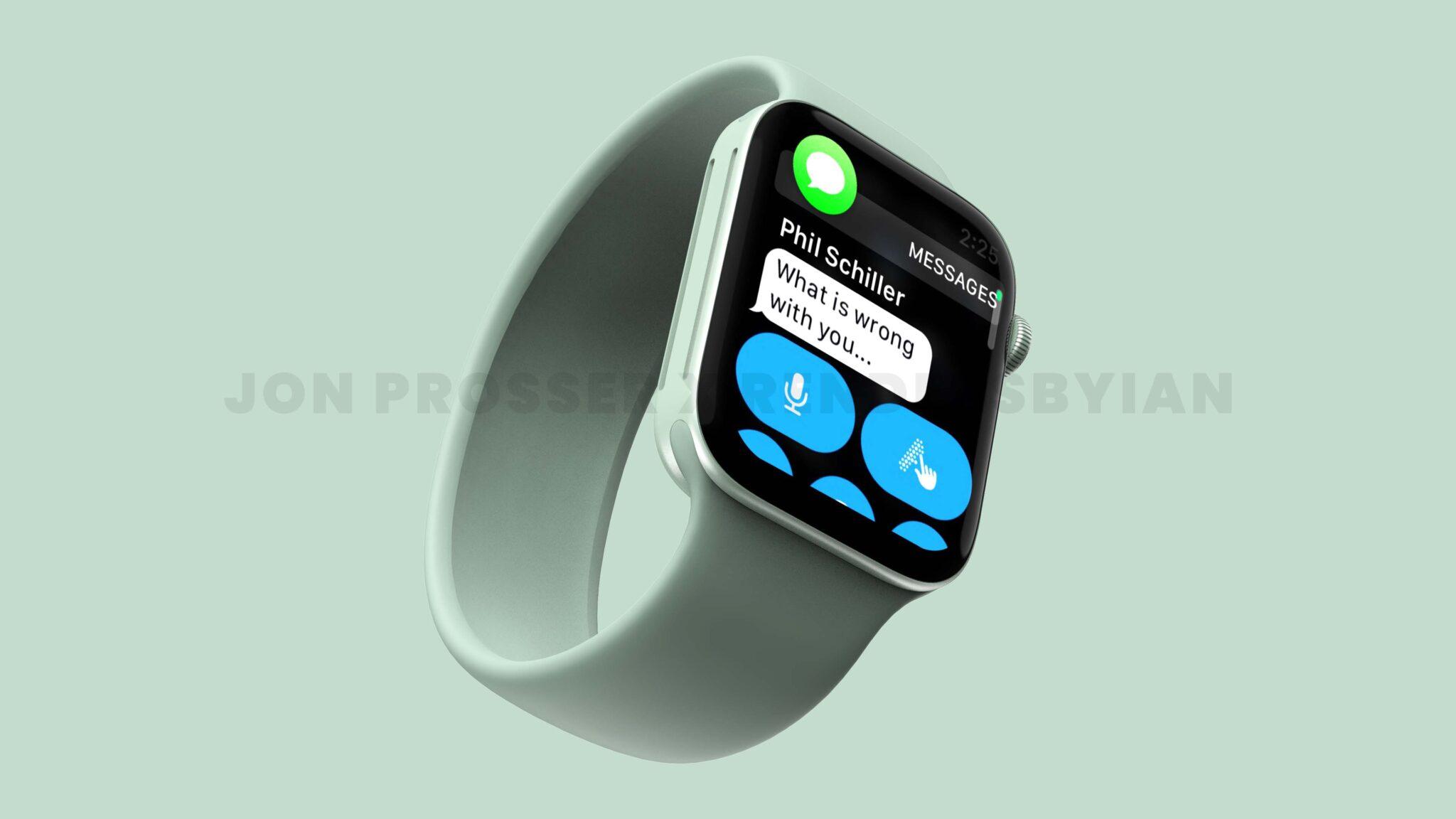 Apple Watch Series 7 – Leaked Rendered Image