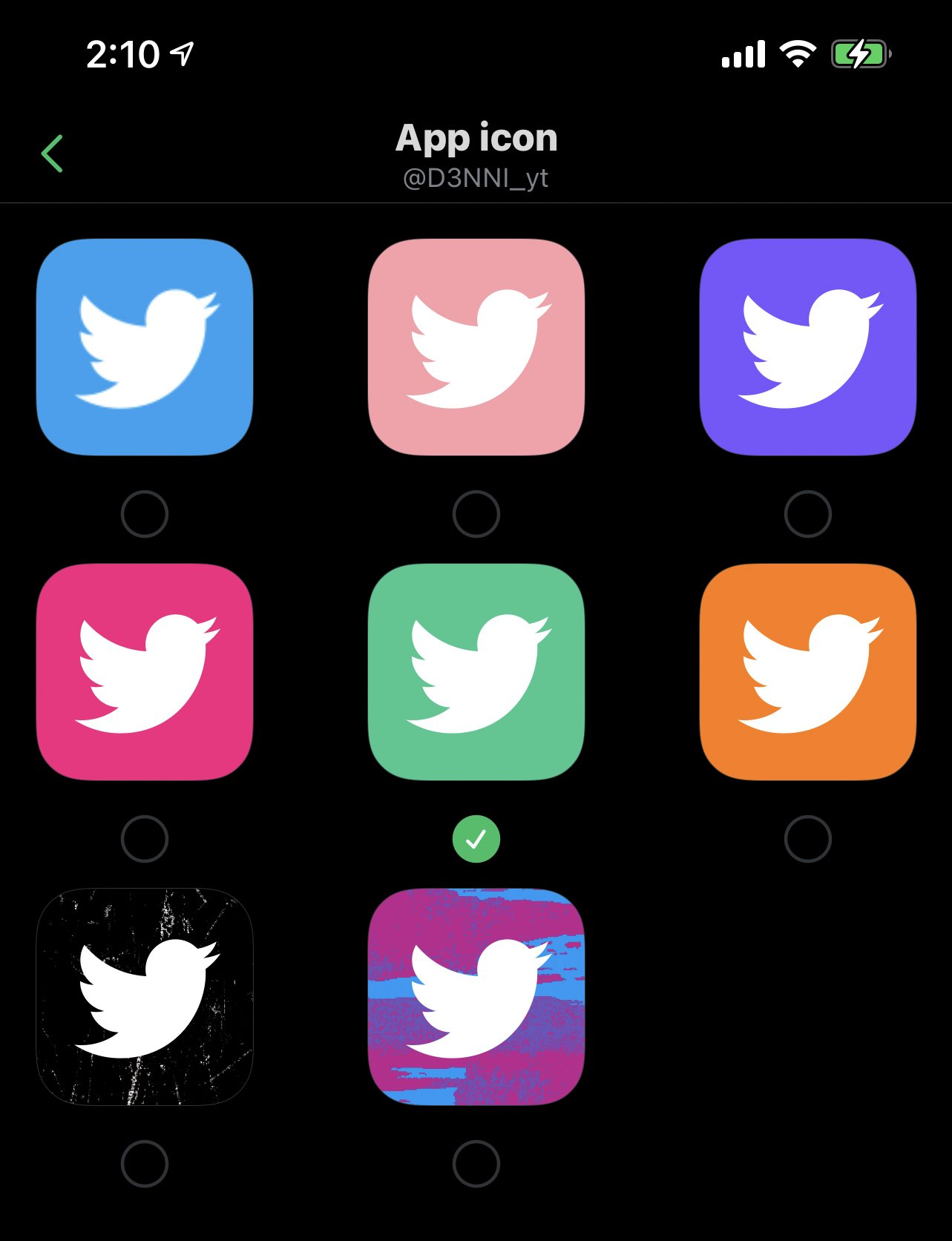 Changing Of Themes And App Icons